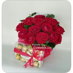 603 | Box of roses and chocolates
