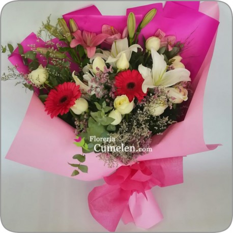 220 | Bouquet of scented lilims, roses and gerberas.